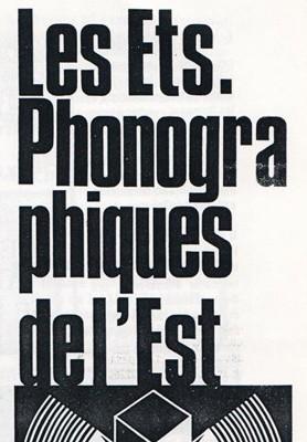 Les établissements phonographiques de l'Est poster
