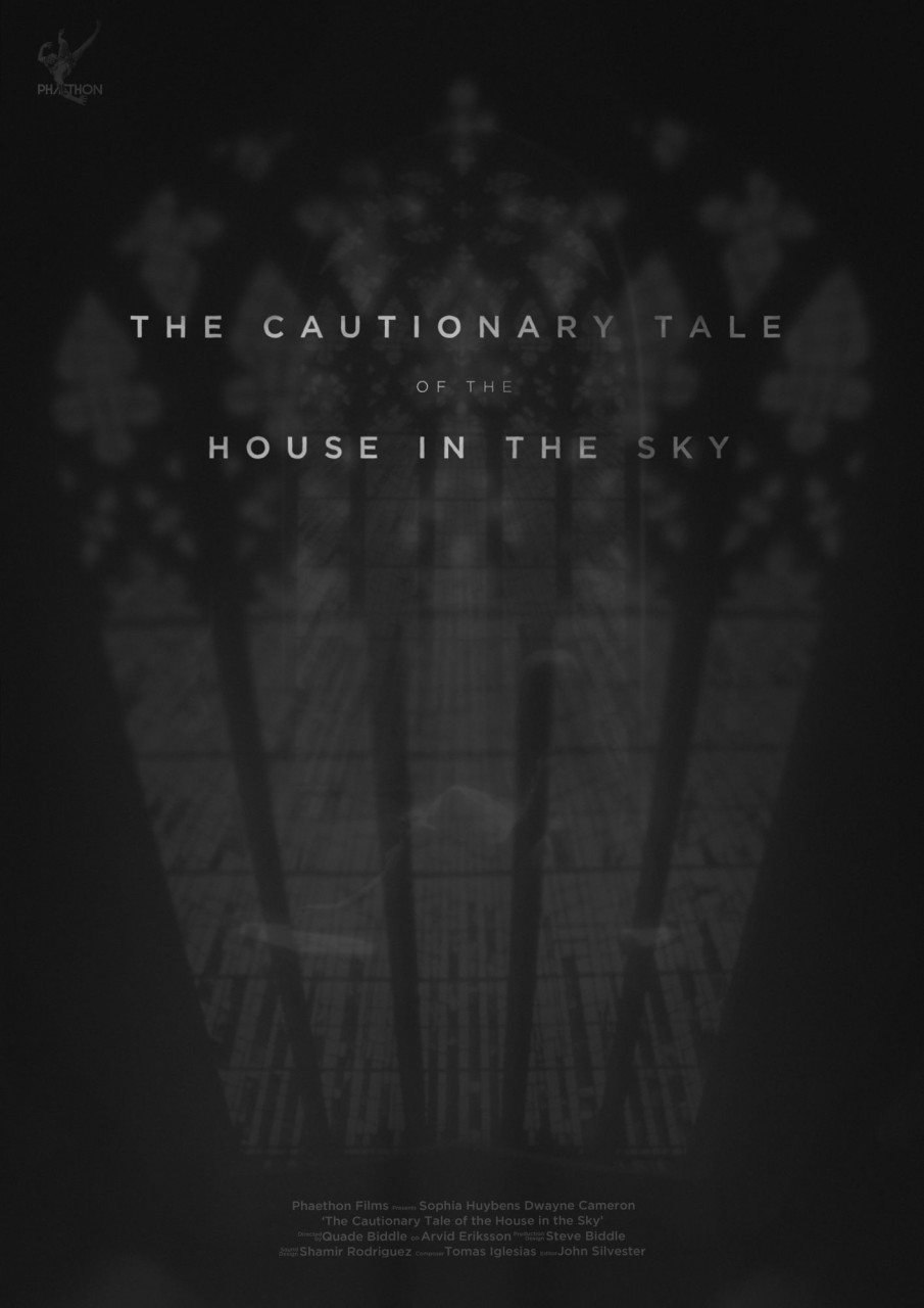 Poster The cautionary tale of the house in the sky