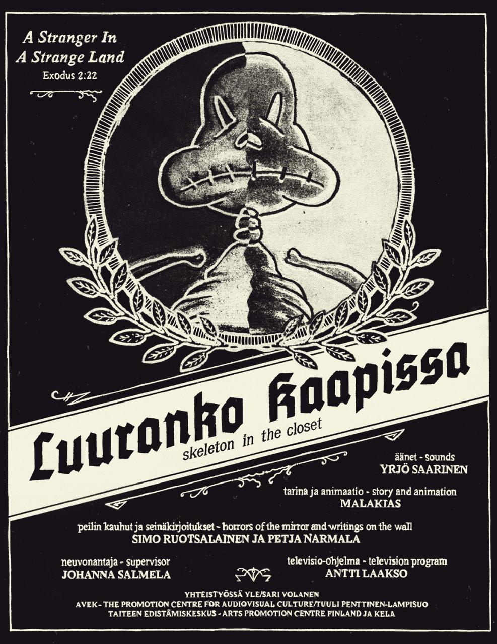 Poster Luuranko kaapissa